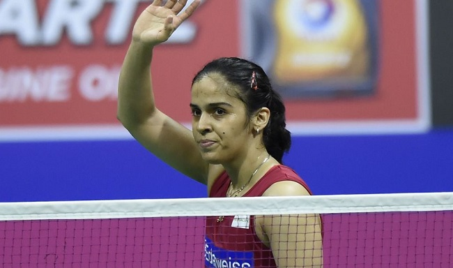 Indian shuttlers Saina Nehwal