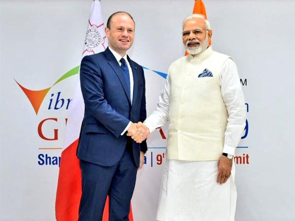 PM Narendra Modi and Maltese PM Joseph Muscat met on Vibrant Gujarat margins