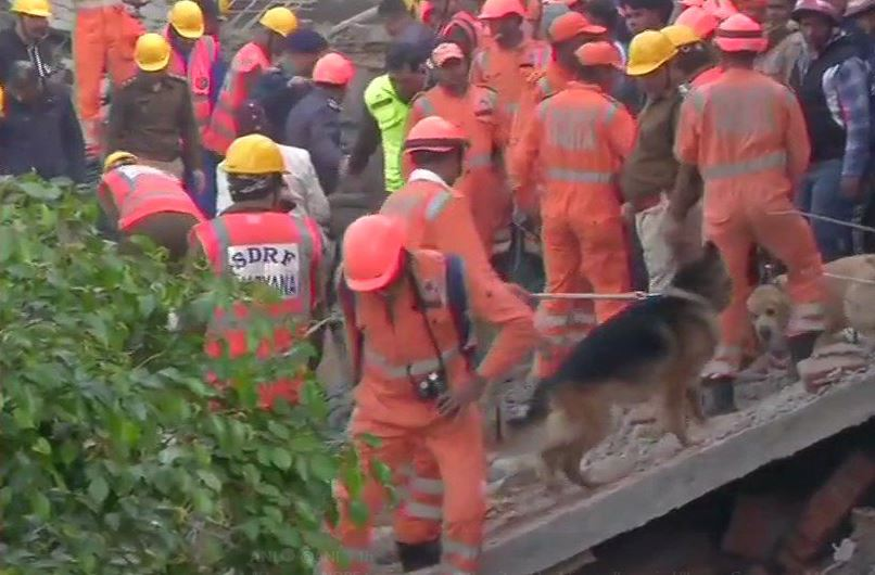 NDRF teams at the site