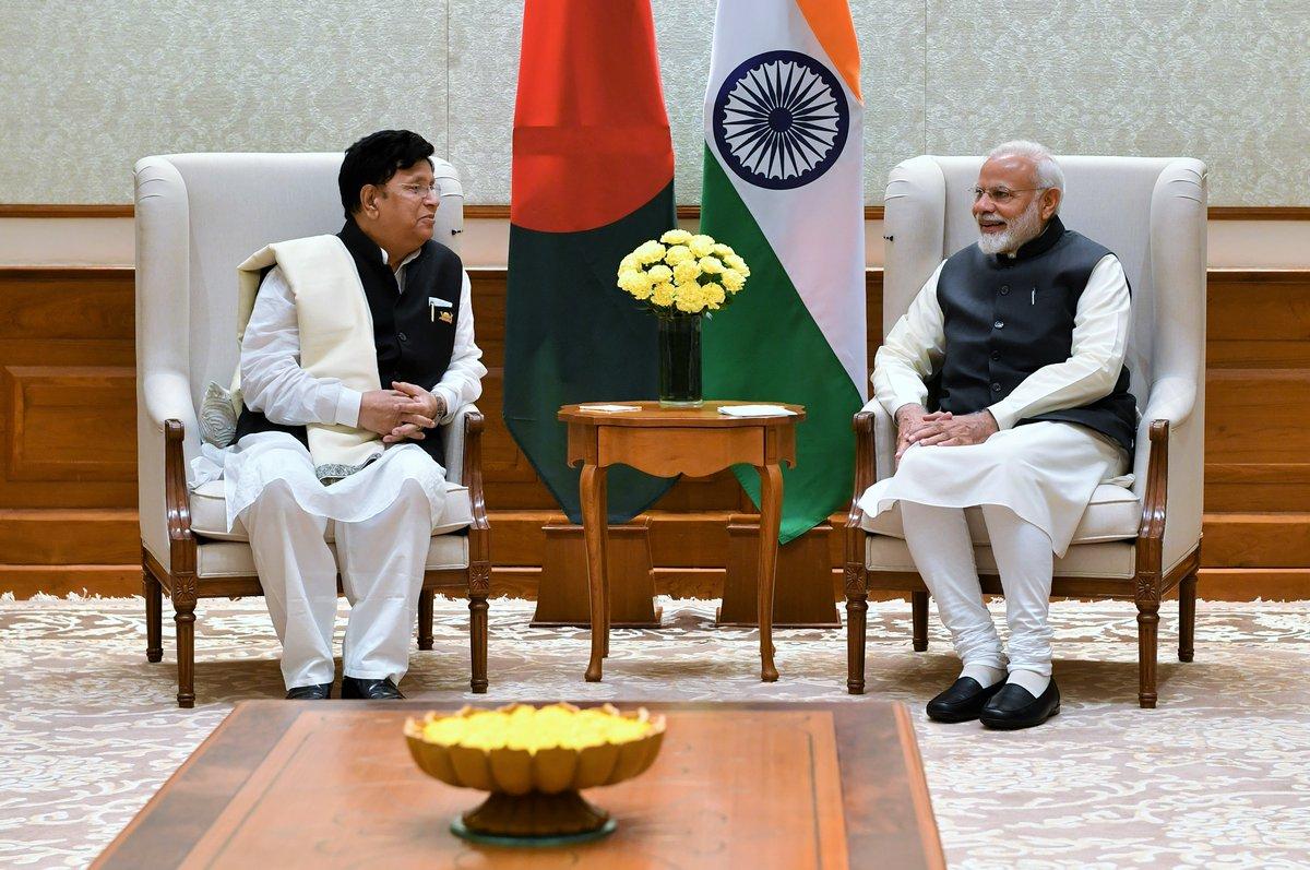 Prime Minister Narendra Modi and Bangladesh Foreign Affairs Minister AK Abdul Momen