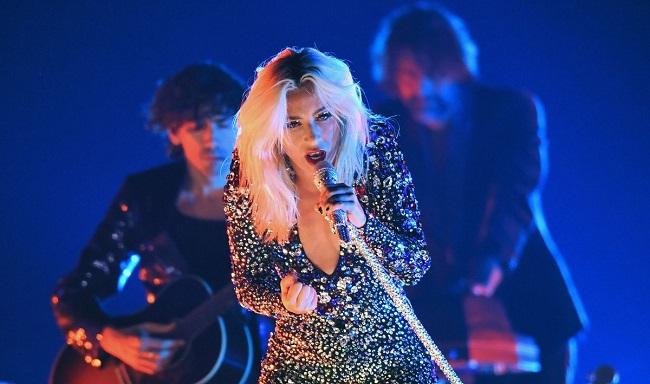 Lady Gaga performing at  Grammy