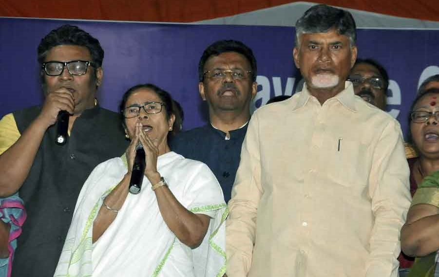 West Bengal CM Mamata Banerjee extended support to her Andhra Pradesh counterpart N Chandrababu Naidu
