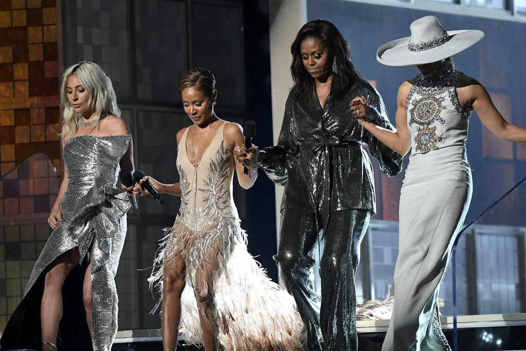 Michelle Obama made a surprise appearance at the Grammy Awards