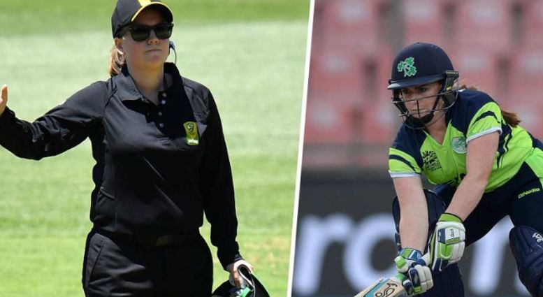 Umpires Eloise Sheriden (Left) and Mary Waldron (Right)