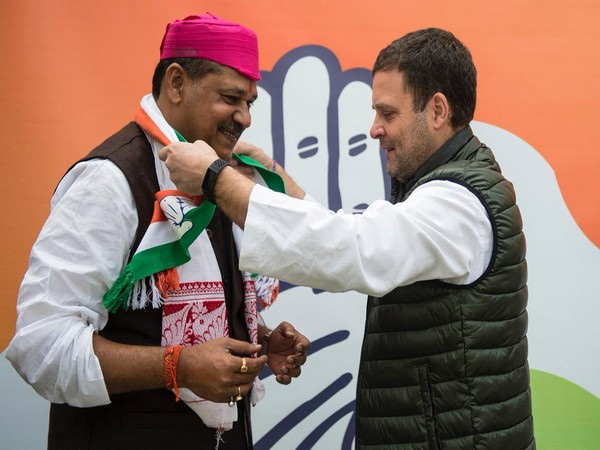 Kirti Azad  joined Congress in the presence of Congress President Rahul Gandhi