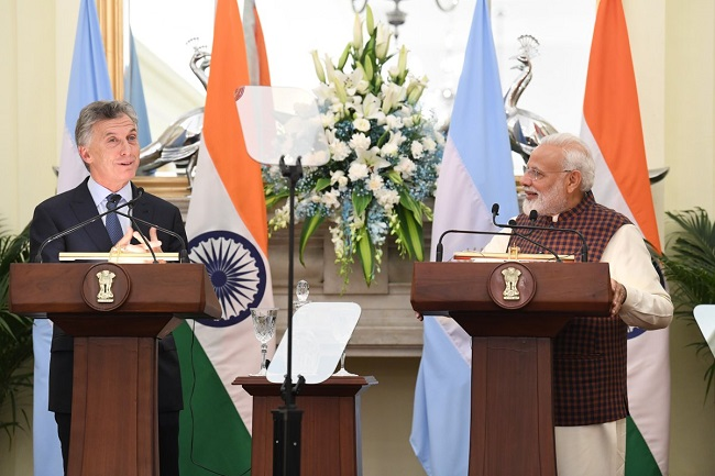 Prime Minister Narendra Modi and President of the Argentine Republic