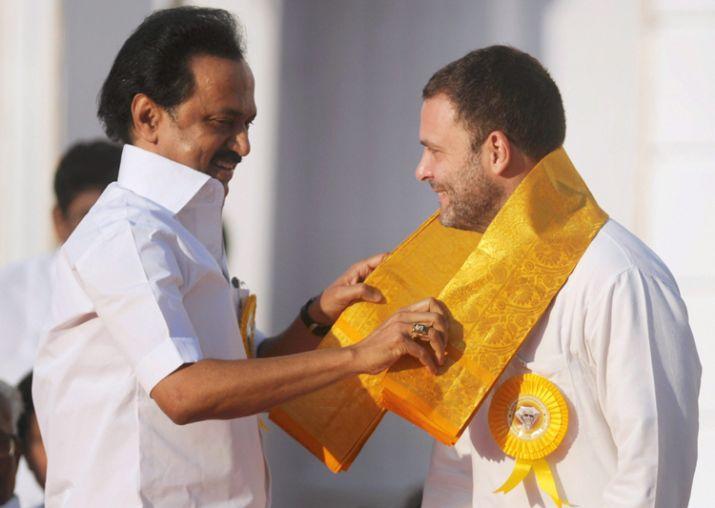 Rahul Gandhi and MK Stalin