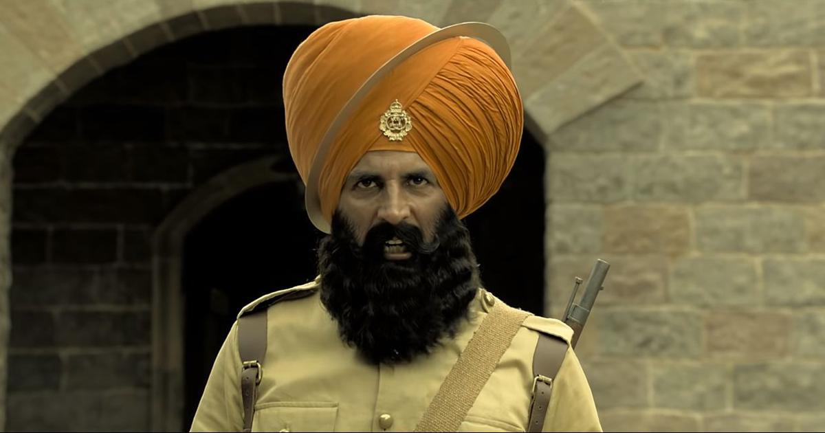 A still from the Kesari's  trailer
