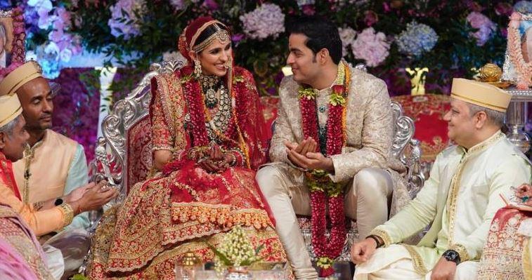 Newlyweds Akash Ambani and Shloka Mehta