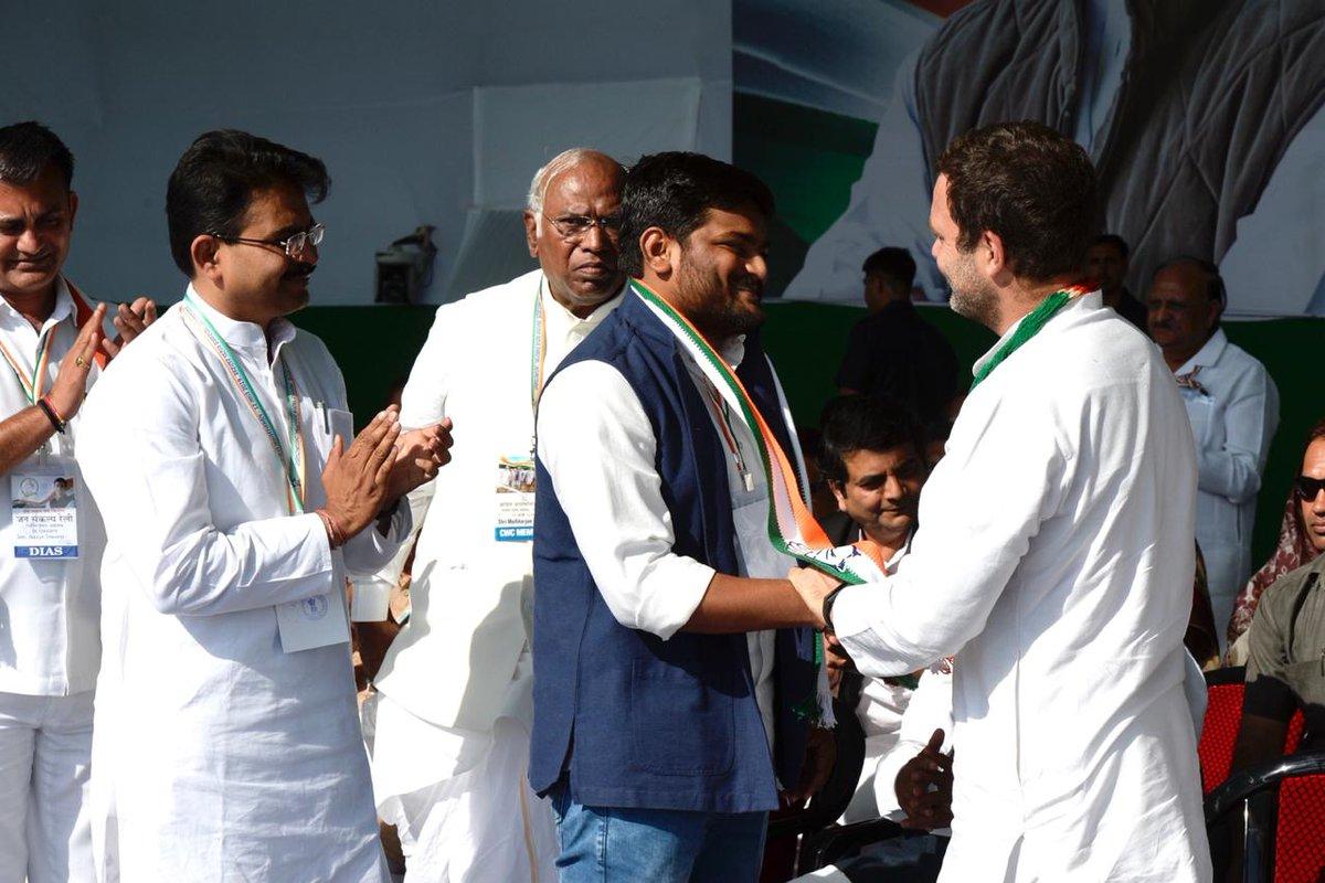 Patidar quota agitation leader Hardik Patel joins Congress
