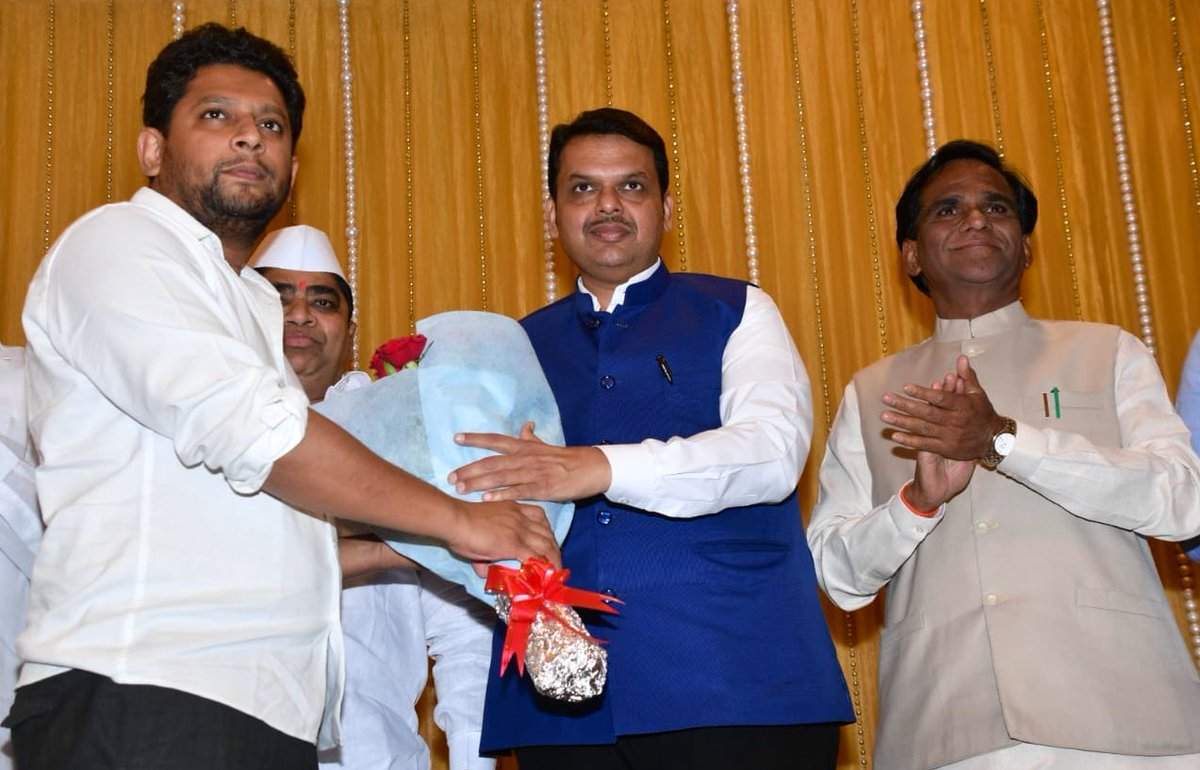 Radhakrishna Vikhe Patil  joins BJP