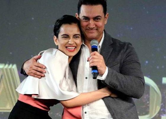 Aamir Khan with Kangana Ranaut
