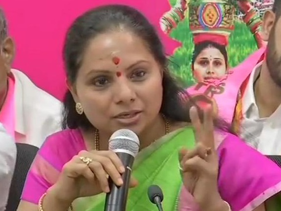 Telangana Rashtra Samithi leader and MP K Kavitha
