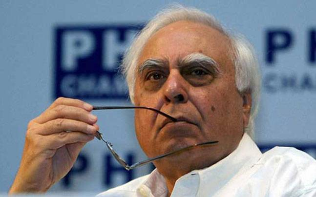 Congress leader Kapil Sibal