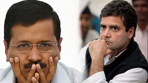 Congress President Rahul Gandhi and Delhi Cheif Minister Arvind Kejriwal (File Photo)