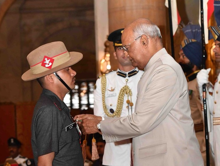 President Ram Nath Kovind gives away the gallantry awards