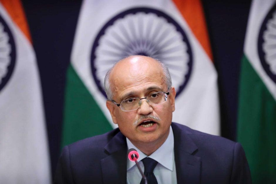 Indian Foreign Secretary Vijay Gokhale