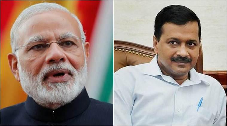 Prime Minister Narendra Modi and Delhi Chief Minister Arvind Kejriwal