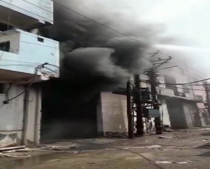 Fire broke out in a plastic bag factory in Samaypur Badli