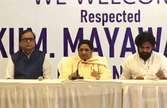 Mayawati's joint press conference with Pawan Kalyan