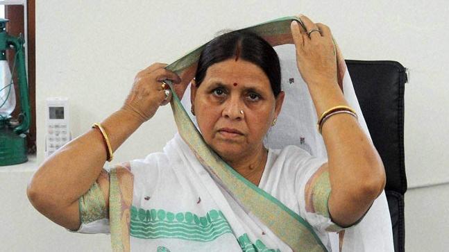Former chief minister of Bihar Rabri Devi