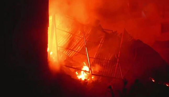 Fire breaks out in plastic factory