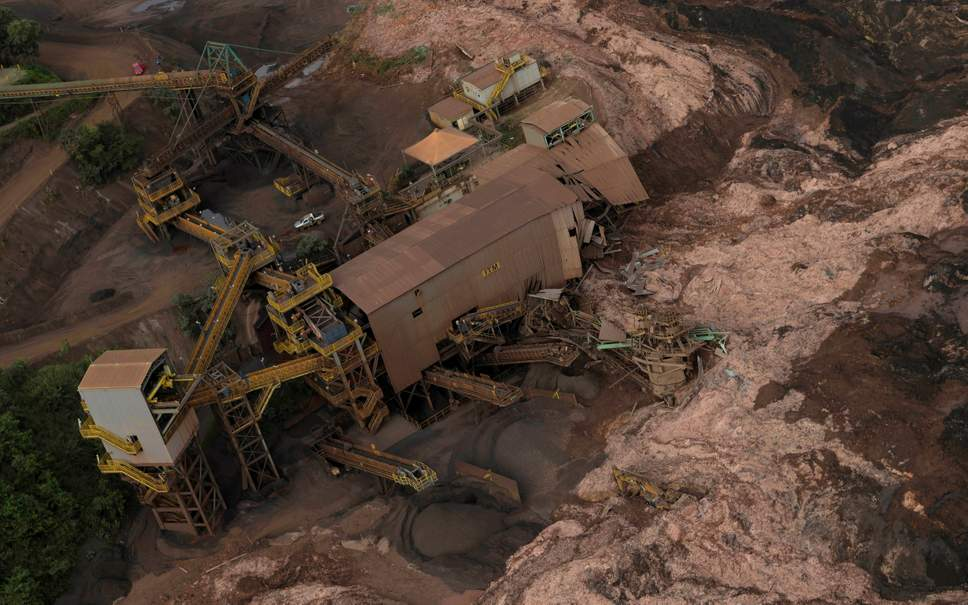 Sight of Brazil Dam Collapse