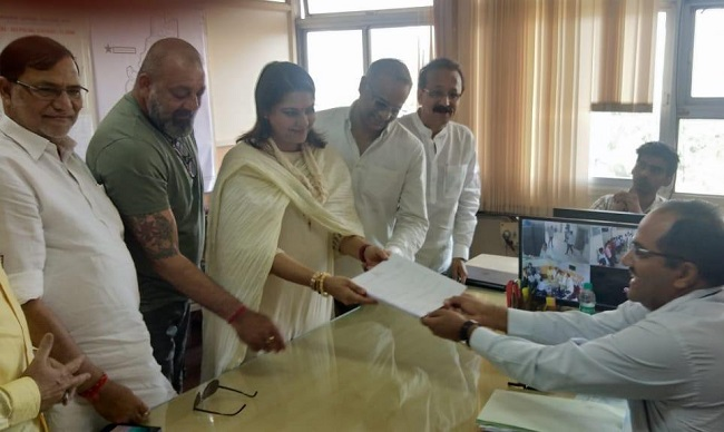 Priya Dutt files nomination