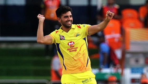 Chennai Super Kings pacer Deepak Chahar
