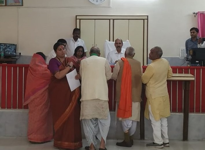 Union Minister and BJP leader Smriti Irani files nomination from Amethi