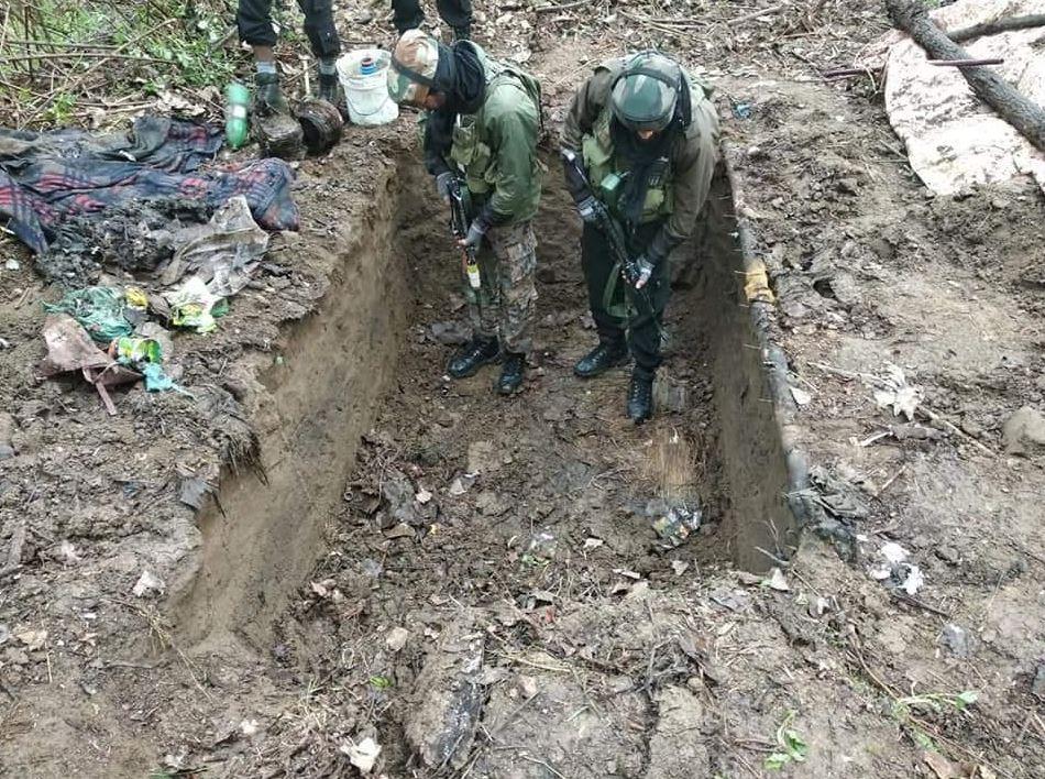 Pulwama police and 55 Rashtriya Rifles busted a terrorist hideout