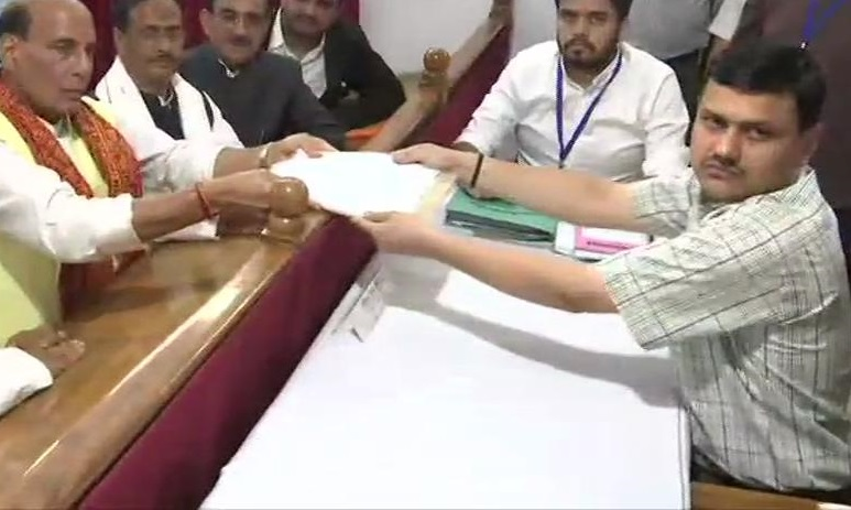 Rajnath Singh files his nomination