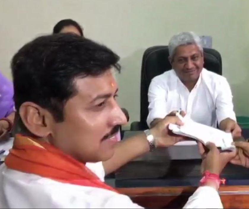 Rajyavardhan Singh Rathore files his nomination from Jaipur