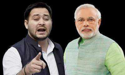 Tejashwi and PM Modi