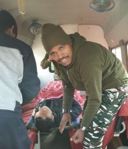 CRPF helps Polling officer