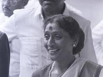 Vijay Amritraj's mother Maggie Amritraj