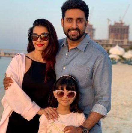 Aishwarya Rai Bachchan, Abhishek Bachchan and Aaradhya Bachchan