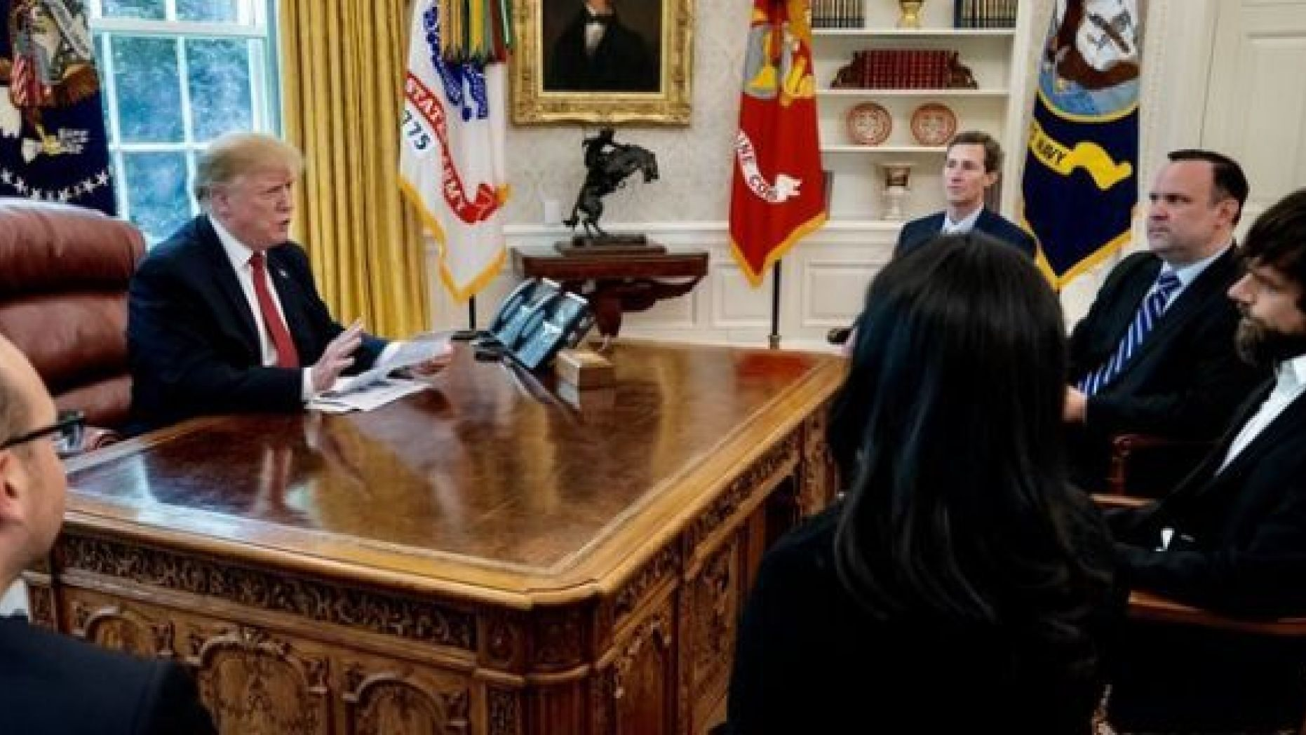 President Donald Trump meets Twitter CEO Dorsey