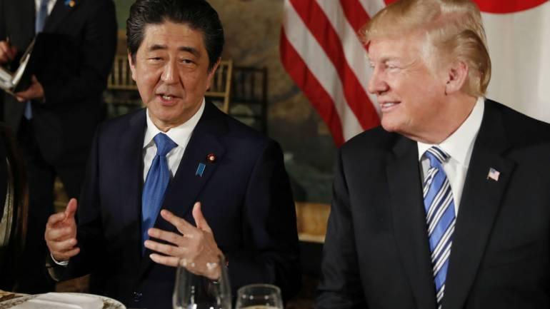 US President Donald Trump and  Japanese Prime Minister Shinzo Abe