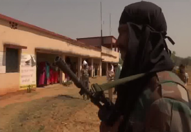 Amid tight security, voting takes place for the first time in Jagodih area of Palamu in Jharkhand