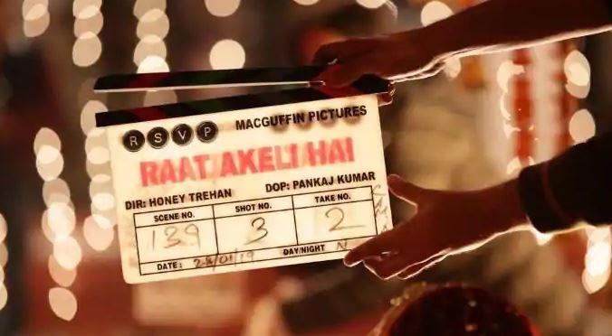 'Raat Akeli Hai' clapper board