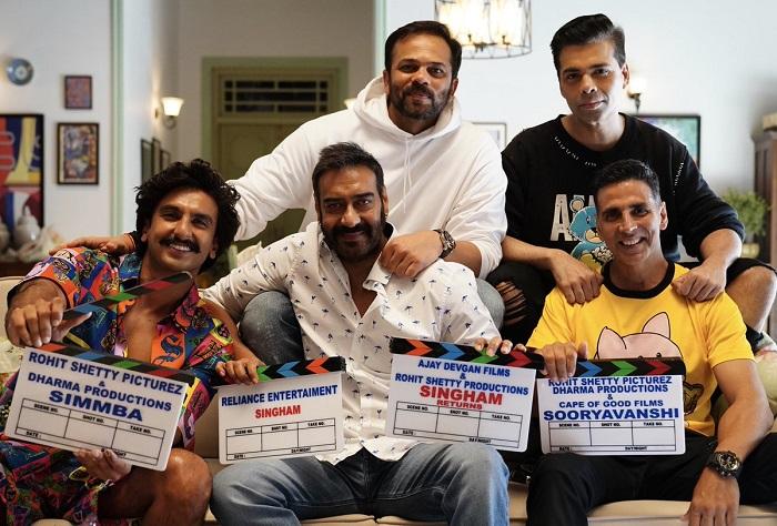 Ranveer Singh, Ajay Devgn, Akshay Kumar, Rohit Shetty and Karan Johar