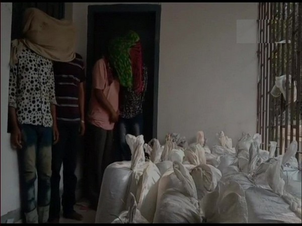 Bihar police seized 550 kg ganja and arrest four persons in the case