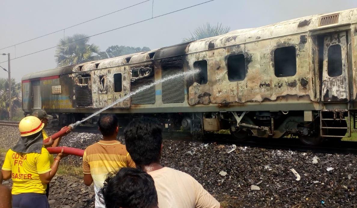 Fire in Bhubaneswar-bound Rajdhani Express