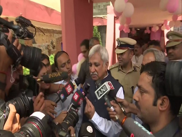 Chief election Commissioner Sunil Arora talking to media after casting vote in New Delhi on Sunday
