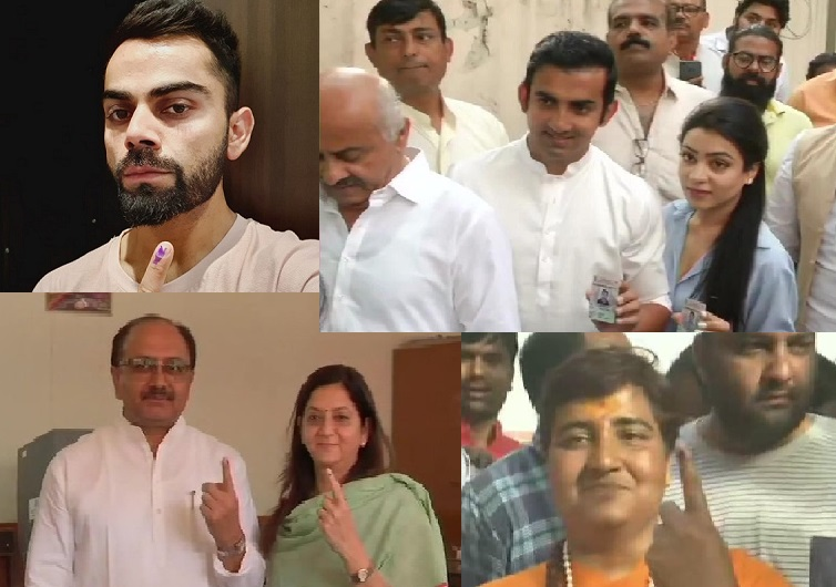 Leaders and Cricketers cast their vote