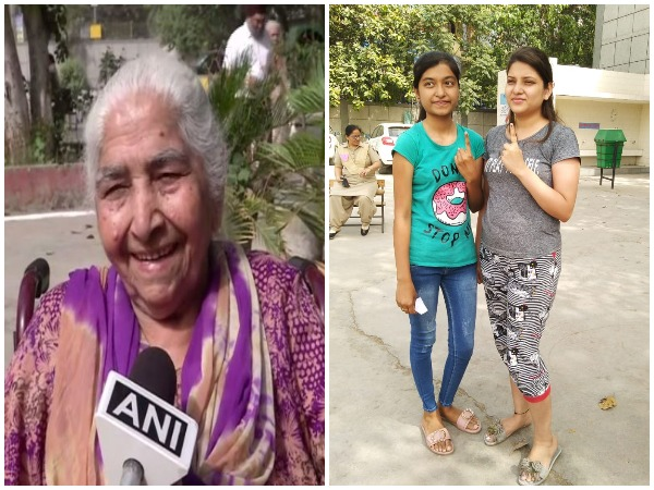 First time voters and senior citizens show excitement for voting in Sixth phase of Lok Sabha election 2019