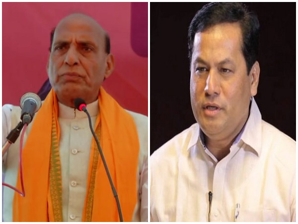 Home Minister Rajnath Singh and Assam Chief Minister Sarbananda Sonowal
