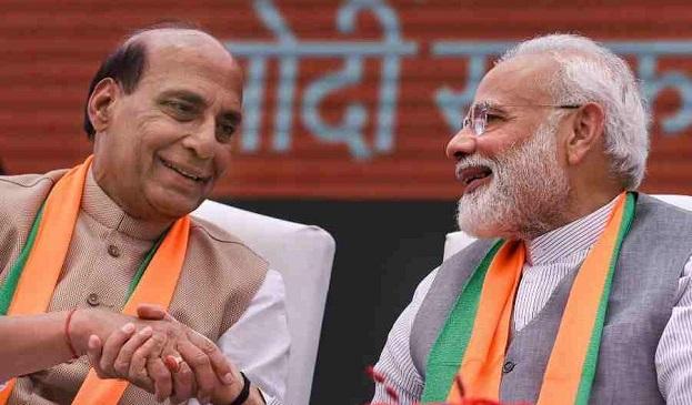 Rajnath  with Narendra Modi (File Photo)