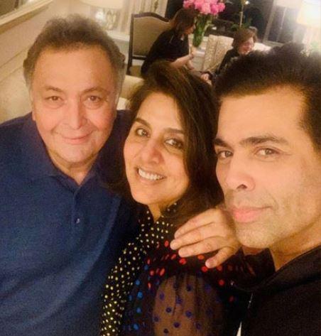 Rishi Kapoor, Neetu Kapoor and Karan Johar